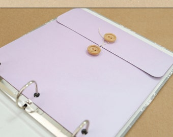 Keepsake Envelope - Lavender -  Include in your Two Giggles Baby Album