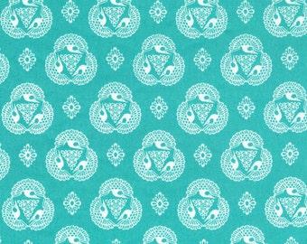 Old Lace Cerulean from Tsuru by Rashida Coleman-Hale  - Cloud9 Organic fabrics  - One Yard