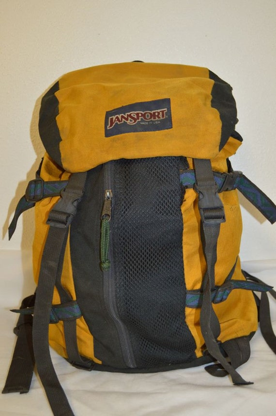 VINTAGE JANSPORT Nylon HIKING Backpack Day by PaddleDownTraders