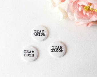 Team Bride Team Groom Custom Badges Hen Party Pin Stag Night Button Wedding Favor Bachelor Party Bridal Shower Bachelorette Bridesmaid