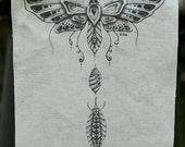 Moth Metamorphosis Hemp/Organic Cotton Patch