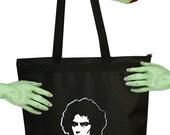 VoodooSugar Rocky Horror Dr Frank N Furter Black Zippered Tote Bag