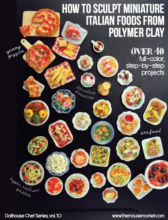 Miniature food polymer clay tutorial how to sculpt miniature for Polymere cuisine