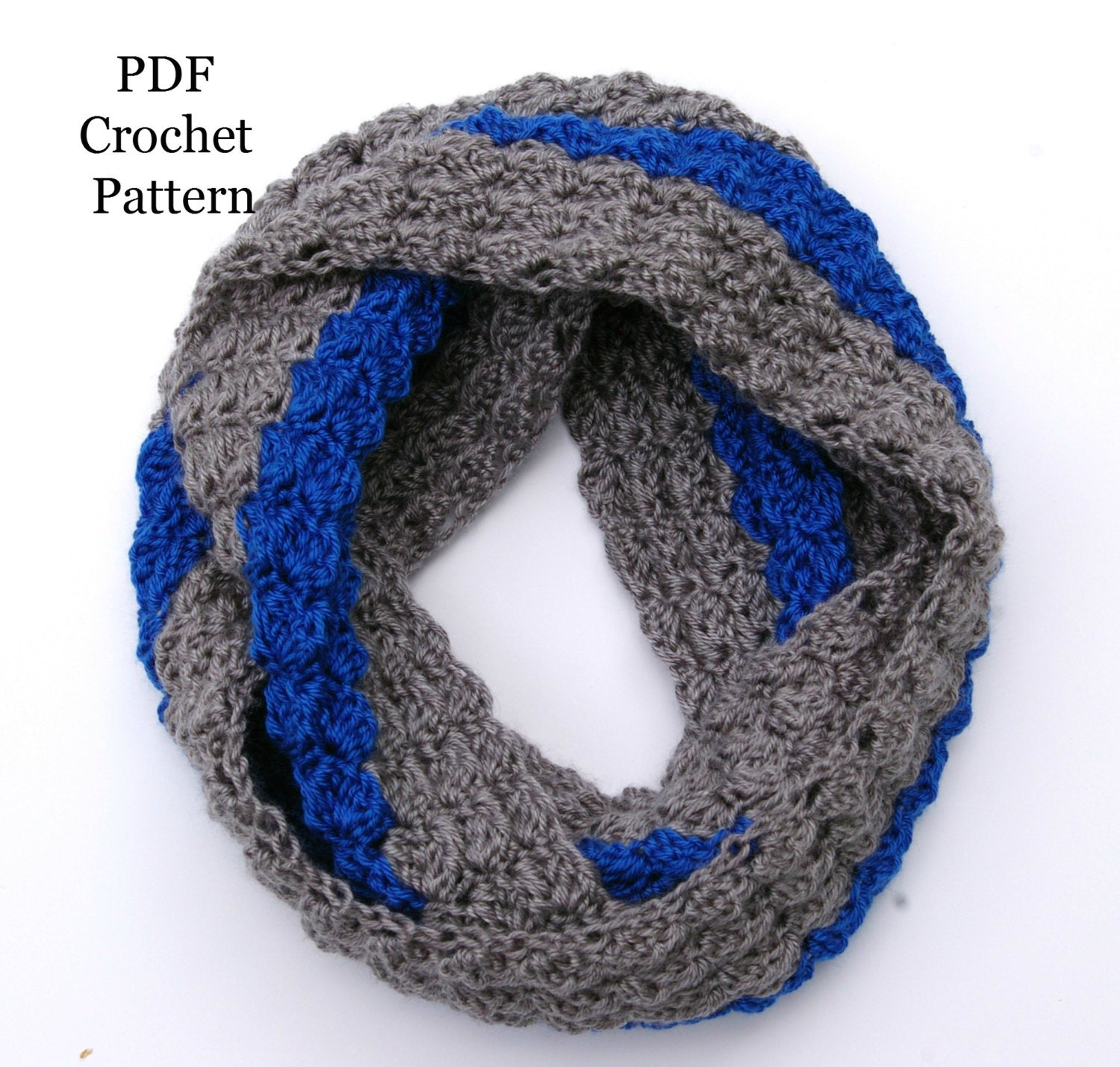 Crochet Pattern Software Free Download : Instant Download Crochet Pattern Infinity Scarf Color Block