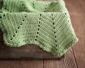 CROCHET PATTERN Baby Easy Blanket Afghan NEWBORN Car Seat Stroller Beginner Build A Star Ripple