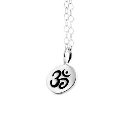 Ohm Necklace, Sterling Silver Ohm, Yoga Jewelry, Silver Ohm Necklace, Gift Idea for Her