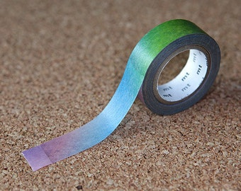 Colorful Gradation Tape, Japanese Washi Paper Masking Tape, Adhesive Tape, mt ex, Scrapbooking, Collage, Card Decoration, Unique  Sticker