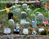 10-Piece Mini Cemetery or Graveyard Kit for Your Terrarium or Garden or Fish Tank or Whatever. Handmade and Hand-painted