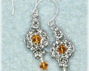 Most are  Romanov Chainmaille Earrings in  Swarovski Crystal Birthstone Colors