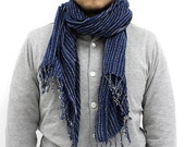 Best Seller Item - Stripe Indigo Scarf 05