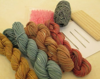 Tonal Hand-Dyed Cotton & Hand-Painted Waxed Linen Thread Collection for Looping -- LSK101311