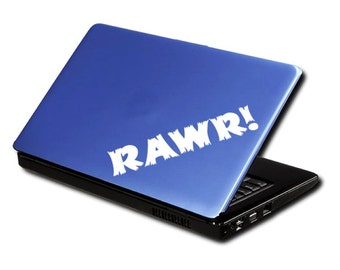 RAWR! Decal for Laptop Sticker for Car