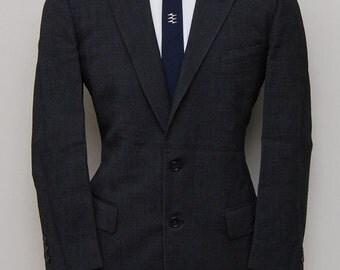 1950s men's black and white wool blazer/ 50s men's black and wool blazer/ Top-O-Mart