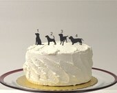 ADD ON Dog Silhouette Cake Topper  Add on for any silhouette Wedding Cake Topper Bride Animal Pet dog