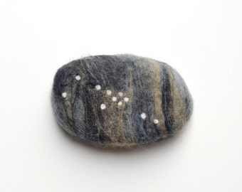 Felted Soap with Taurus Constellation ( Sandalwood)