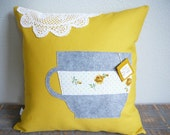 You're My Cup of Tea - Decorative Pillow - Pillow Cover - Valentines Day - Gift - For Her