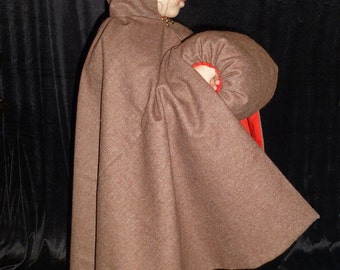 Girls Wool Cloak with matching muff, Toddlers 2-3 Years