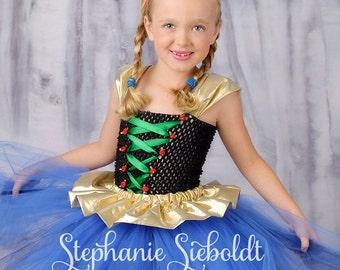 ARENDELLE PRINCESS Frozen Anna Inspired Tutu Dress - Large 4-6T