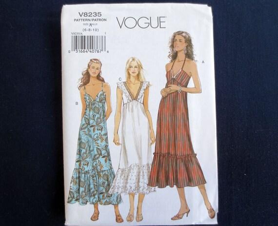 Galerry slip dress vogue pattern