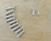 1/2 inch Scrapbook Screw Posts set of 10 aluminum posts