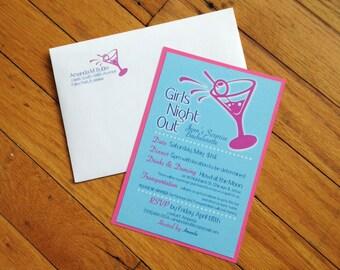 Bachelorette Invitation - Martini Glass