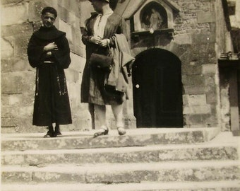 Vintage 1930's Photo - Father Clement in Fiesole, Italy