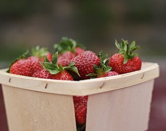 12-  Pint Size Wooden Berry Baskets