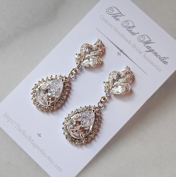 Stunning Rhinestone Chandelier Earrings, Swarovski Crystal Bridal Earrings, Rhinestone Earrings, Vintage Style - ANASTASIA