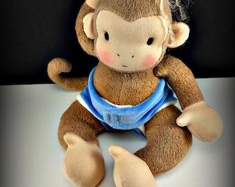 PDF Pattern Waldorf Monkey Doll