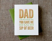 Dad Here's to You Card