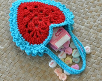 Items similar to Crochet Valentine Heart Applique Pattern ...
