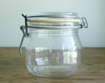 Vintaged Glass Canister - Luminarc France - 1/2 Liter