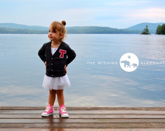 Personalized Kids Gift, Custom Name, Monogrammed Cardigan, Personalized Kids Clothes, Personalized Gift,Varsity Letter,Personalized Children