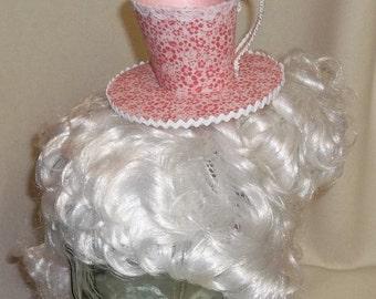 Teacup Fascinator- Pink Flowered