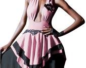 Women's DECEPTION  Backless Low Cut Halter dress