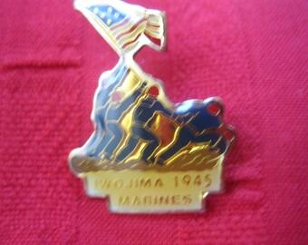 Marines, Lapel Pin, Iwo Jima 1945, MIlitary, Marines take note!
