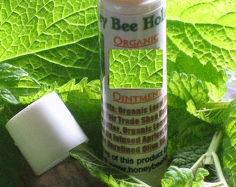 Organic Lip Ointment made w/ Organic Lemon Balm grown on our Farm twist-up tube