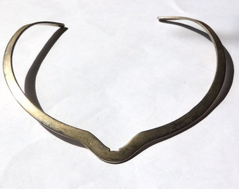 Designer Sterling Silver Necklace Solid Silver Collar Signed VOGT Collectible Vintage Jewelry