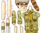 Sam From Moonrise Kingdom - Paper Doll Digital File