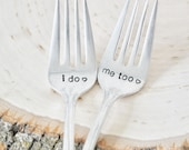 I do. Me too. Vintage Wedding Cake Fork Set Personalized with Your Wedding Date (Matching Set)