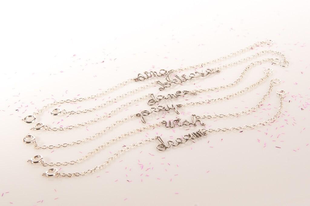 Custom Bracelets - Personalized Jewelry - Choose THREE Inspiring Words - Set of Bracelets - Inspirational Jewelry - Positive Affirmations