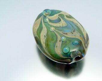 Handmade lampwork focal bead by Vanessa Hearn SRA UK - Drifted