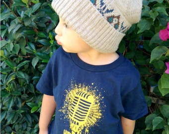 HipHop Forever Microphone Toddler Shirt by Graphic Villain printed on ultra soft ring spun cotton