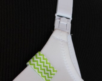 Mammary Minders Nursing Reminder in green chevron (G8)