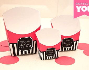 French Food Snack Boxes : DIY Printable Parisian Fry Box (Set of 3) PDF - Instant Download