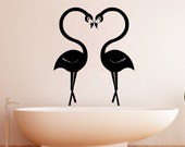 Vinyl Wall Decal Sticker Flamingo Love 1348m