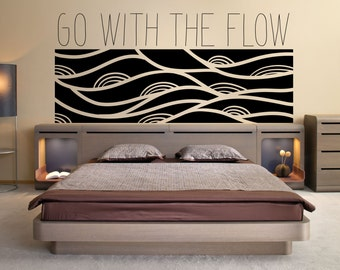 Vinyl Wall Art Decal Sticker Go With the Flow OSMB1157B