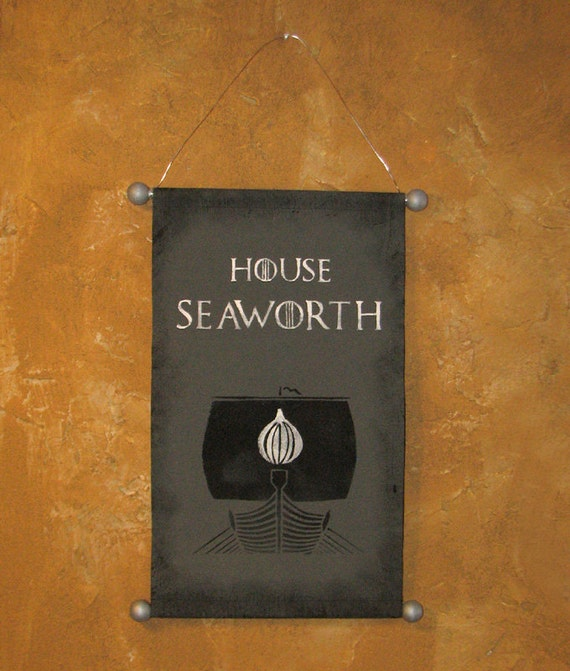Hand Painted House Seaworth Canvas Banner Game Of By Lorinas