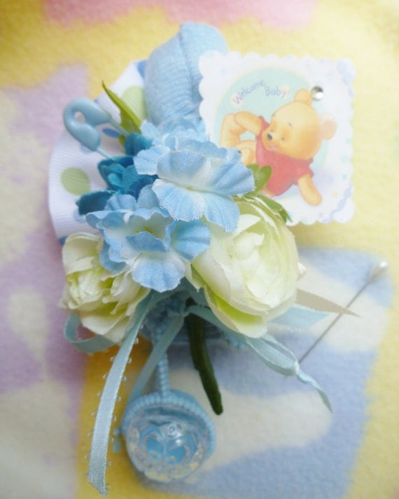 baby shower corsage mom to be corsage classic pooh bear boy