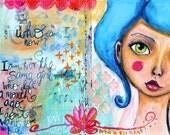 The Same Girl Illustration Art Journal PRINT